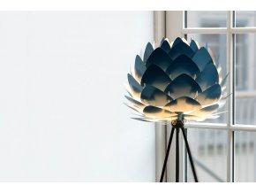Lustr stojací lampa Aluvia petrolejově modrá 11