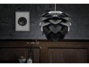 Lustr stojací lampa Silvia černá 2