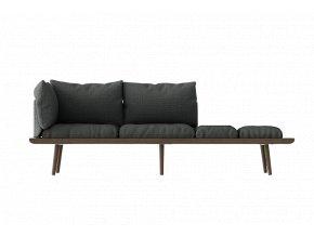 Sofa Lounge Around 3místná - tmavý dub 4