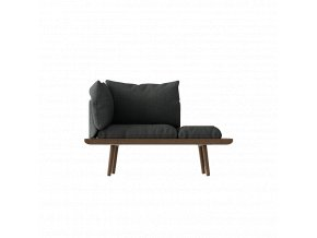 Sofa Lounge Around 1,5místná - tmavý dub