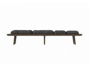 Day bed Lounge Around - tmavý dub
