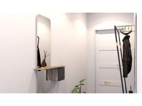 Zrcadlo se skříňkou One More Look - dub 2