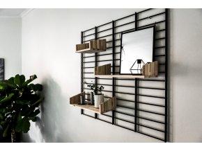 Nástěnný stojan Fency Rack 80 x 80 cm černá