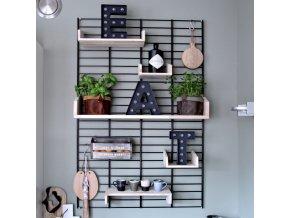 Nástěnný stojan Fency Rack 120 x 80 cm černá