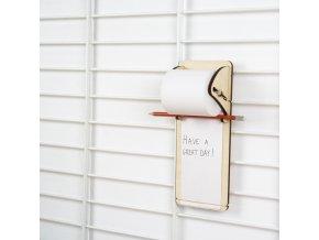 Závěsný poznámkový blok laser wood Fency