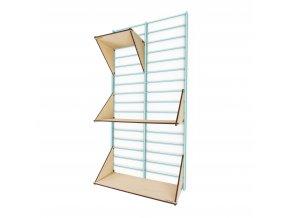 Sada Bathroom - stojan Fency Rack 80 x 40 cm + 3 police laser wood