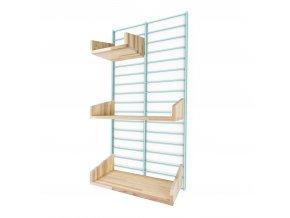 Sada Bathroom - stojan Fency Rack 80 x 40 cm + 3 police z lisovaných palet