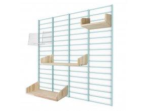 Sada Roomie - stojan Fency Rack 80 x 80 cm + 4 police