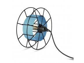 Stojací lampa Spool Floor Black modrá