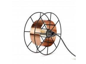 Stojací lampa Spool Floor Black Deluxe
