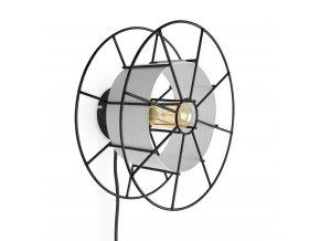 Nástěnná lampa Spool Wall Black bílá