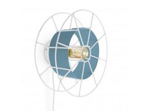 Nástěnná lampa Spool Wall White modrá
