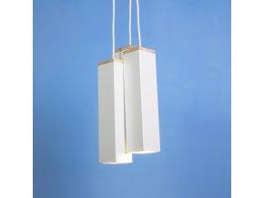 Stropní lampa Andy Triple bílá