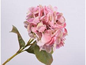Umělá růžová hortenzie