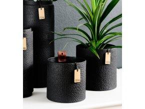 OOhh Zero waste váza Madrid Cylinder Black