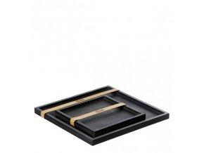 OOhh set 2 dřevěných podnosů Square Black
