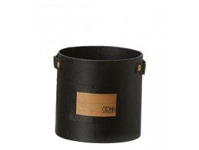 OOhh květináč Cylinder Note Black
