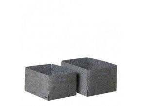 OOhh set úložných boxů Grey 2 ks