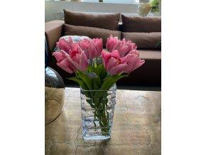 Růžový umělý tulipán silk-ka