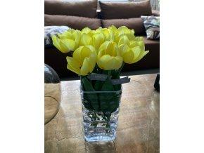 Žlutý umělý tulipán silk-ka