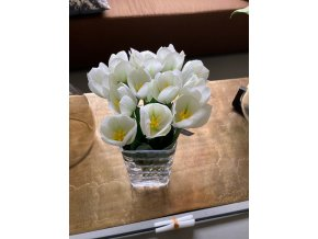Bílý umělý tulipán silk-ka