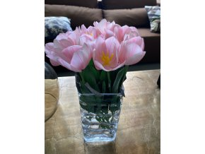 Umělý růžový tulipán silk-ka