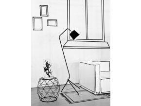 Stojací lampa Barcelona černá
