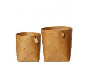 OOhh set ručně pletených nádob Natural XL 2ks
