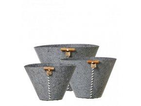OOhh set 3 nádob Grey