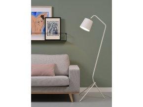 Stojací lampa Barcelona bílá 5