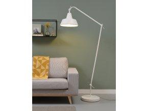 Stojací lampa Chicago bílá