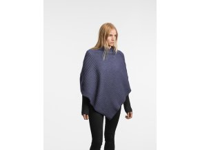 Pleece ShortPoncho MidnightBlue Model