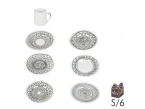 Sada kávových šálků Coffee Circles 6ks