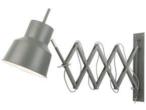 Nástěnná lampa Belfast šedozelená