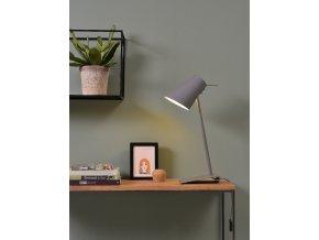 Stolní lampa Cardiff šedá