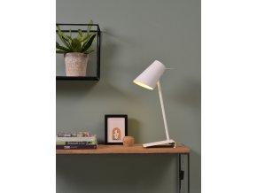 Stolní lampa Cardiff bílá 8