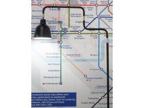 Stojací lampa London černá