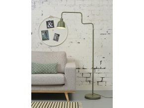 Stojací lampa London olivově zelená