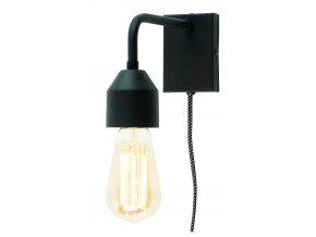 Nástěnná lampa Madrid černá