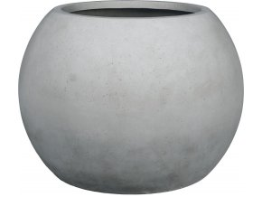 21032 polystone globe pflanzkugel grau 001