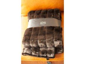 Přehoz přes postel 140x185 hnědá kožešina