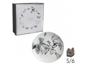 Dezertní talíře butterfly -sada 6ks