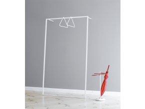 věšák - šatní rám leano k opření o zeď - bílá barva