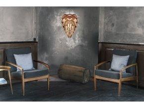 2032 Conia medium copper black cord chairs in corner environment