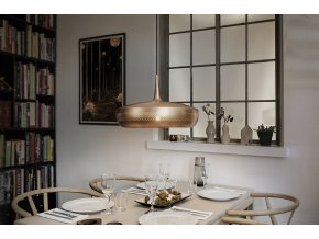 2098 Clava Dine brushed copper black cord dinner environment
