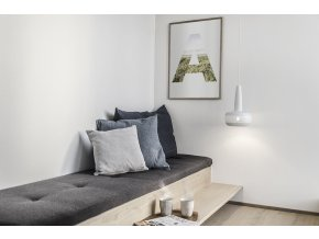 2051 Clava matt white white cord lounge environment