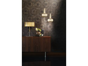 2052 Clava brushed brass black cord wallpattern environment