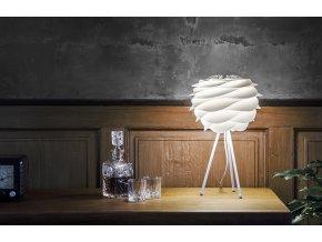 2057 Carmina mini white tripod table white table and glasses environment