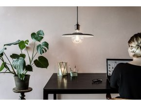 2107 Shade felt black cord office environment