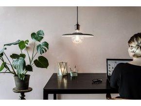 2107 Shade felt black cord office environment